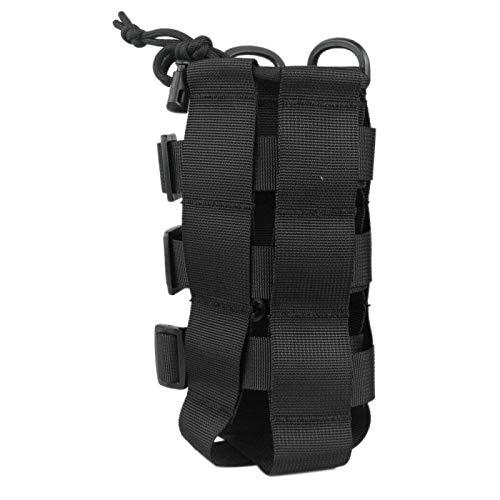 Baalaa Bolsa ajustable para botella de agua al aire libre Molle cintura bolsa de hombro para escalada camping senderismo bolsas negro