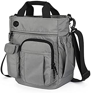 DIEBELLAU New Diagonal Shoulder Bag Multi-Layer Sports and Leisure Large-Capacity Men's Messenger Bag (Color : Grey)