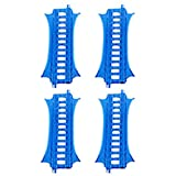 Replacement Parts for Thomas The Train - GBN45 ~ Thomas & Friends Trackmaster Percy 6 - in - 1 Set ~ Replacement Track Bag ~ 4 E2 Track Pieces ~ Blue