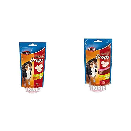 TRIXIE 31624 Milch Drops, 350 g & 31643 Vitamin Drops, Joghurt, 200 g