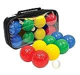 Schildkröt Funsports 970009 - Set Bocce in plastica, 4 Colori, 2 Pezzi per Colore + 1 pallino