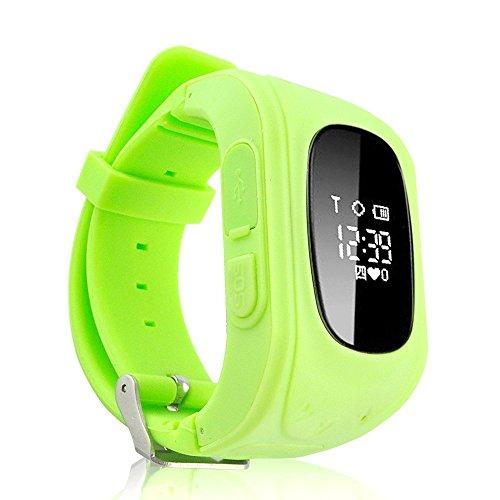 Smart GPS Children's Watch Phone Q50, Children's Track Smart Watch(绿色-Q50) (Green) Florida