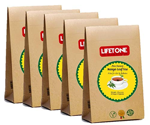 Té tropical de hojas de mango | Té de desintoxicación de limpieza saludable | Mezcla de tiernas hojas de mango | 100 bolsitas de té