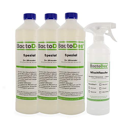 BactoDes Spezial 3l | Allround Geruchsentferner | Urin-Geruchsneutralisierer