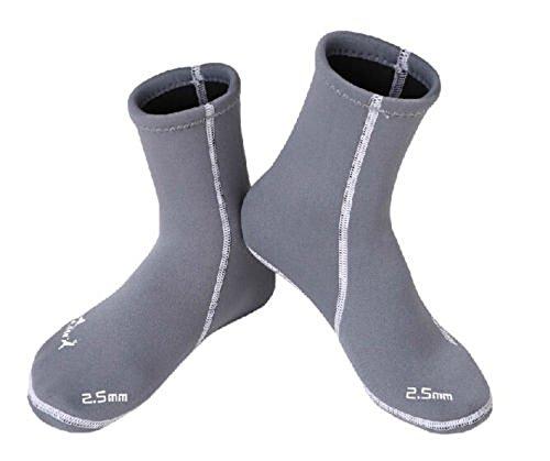 Dive & Sail 2,5mm Lycra Neopren Wet Socken Stiefel für Tauchen Scuba Surfen Blau blau M