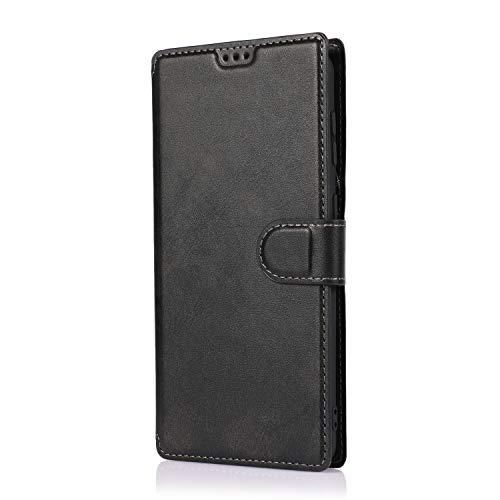 AChris Funda Samsung Galaxy A20s en Cuero Flip Fold Cover Case con Soporte/Tarjeta Ranuras Magnética Cartera Carcasa Anti-Arañazos Billetera Funda Libro de Cuero para Samsung Galaxy A20s, Negro