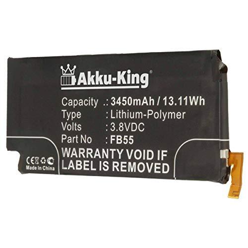 Akku-King Akku kompatibel mit Motorola FB55 - Li-Polymer 3450mAh - für Moto X Force, Bounce, Droid Turbo 2, XT1580, XT1581, XT1585