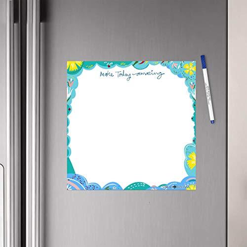 WallDesign Vinyl Make Today Amazing Writing Film Flexible Fridge Magnet (1ft x 1ft, White)