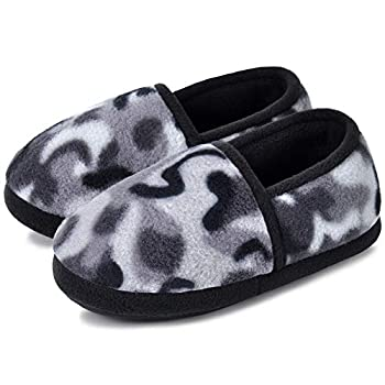 MIXIN Kids Slippers for Boys Girls Camo Slip on Indoor Shoes with Memory Foam Anti Slip for House Bedroom  Toddler/Little/Big Kid  Size 4-5