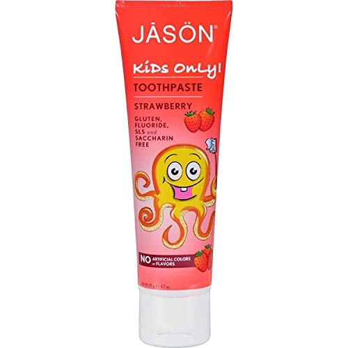 Jason Kids Only! Strawberry Toothpaste 4.2 oz, Pack of 3