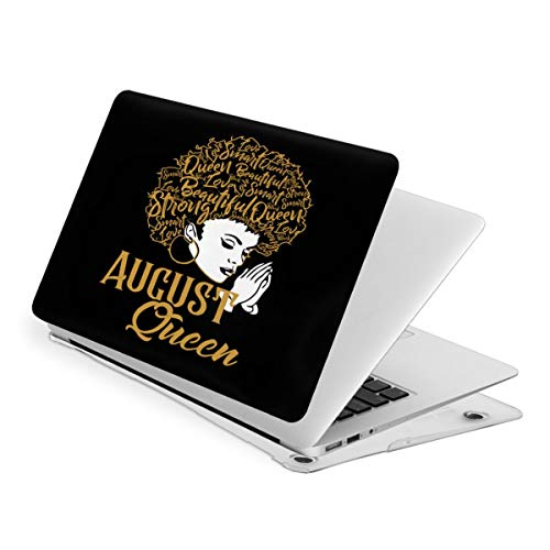 Laptop Case for MacBook African Women Black Queen with Gold Hair Laptop Computer Hard Shell Cases Cover (New Air13 / Air13 / Pro13 / Pro15)