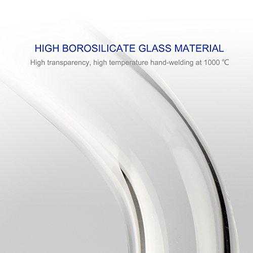 Product Image 6: REANICE Reciclador Glass Bongs Hookah Fumar Pipa 18.8mm Bong Tazon Altura 20cm Pipas de Vidrio Recto Panal Branch Agua de Bong Oil Rigs Pipe Gran Bongs de Vidrio Transparente con Accesorios