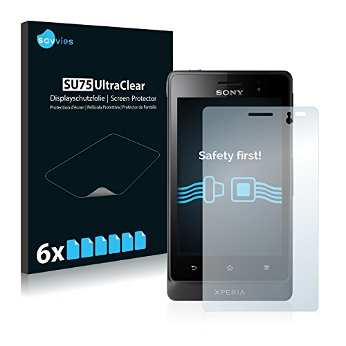 savvies 6-Pezzi Pellicola Protettiva Compatibile con Sony Xperia Go ST27i Protezione Schermo Trasparente