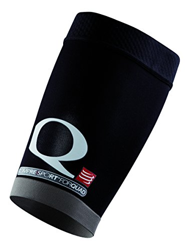 Compressport QT4N - Pantorrillera unisex, color negro, talla T4