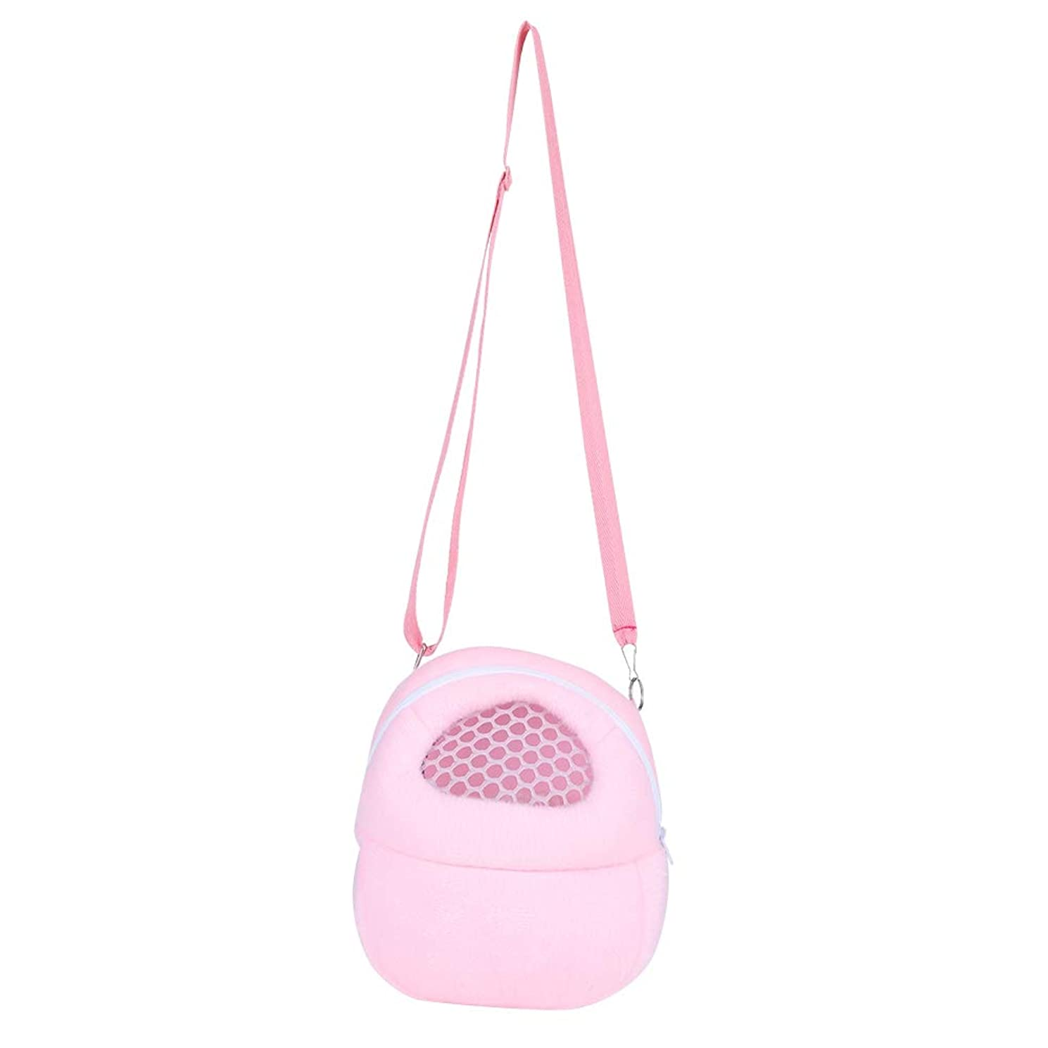 HEEPDD Pet Carrier Bag, Hamster Carrier Portable Breathable Outgoing Travel Bag with Shoulder Strap for Small Pets Hedgehog Sugar Glider Squirrel Rabbit