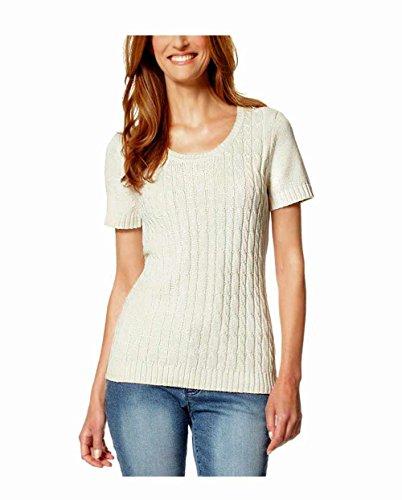 BOYSENS Damen-Pullover Pullover Weiß Größe 52/54