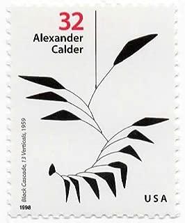 USA Postage Stamp Single 1998 Black Cascade 13 Verticals Alexander Calder Sculptor Issue 32 Cent Scott #3198