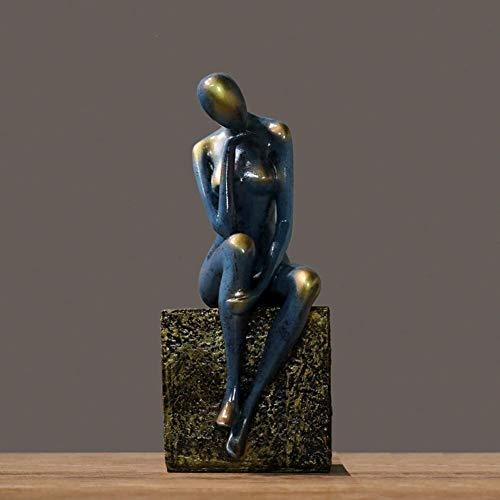 Samanth Artigianato Unico Abstract Girl Scultura Creativa Figura Statua Regalo di Arte Decorazione della casa Artigianato Soggiorno Decorazione Ufficio