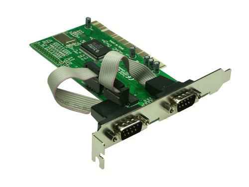 Serielle Schnittstellenkarte, 2 x 9-pol seriell, 32 Bit, PCI