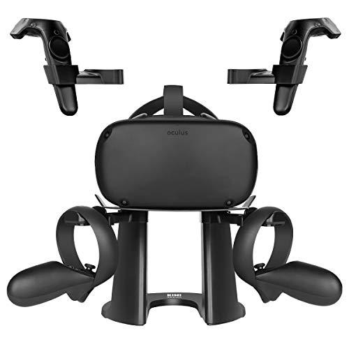 KIWI design VR Ständer, Headset Displayhalter und Controller Halter Montagestation für Oculus Quest/Rift/Rift S/GO/HTC Vive/Vive Pro/Valve Index VR-Headset und Touch-Controller