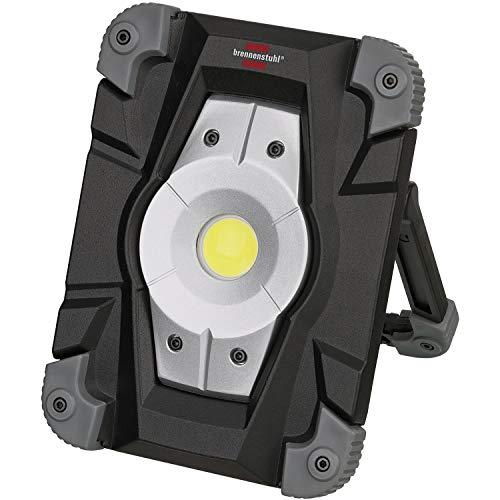 Brennenstuhl Akku LED Arbeitsstrahler ML CA 120 M / LED Baustrahler für außen 20W (Robuste LED Arbeitsleuchte Akku mit Powerbank-Funktion und Transporttasche, Gehäuse aus Aludruckguss, 2000lm, IP54)