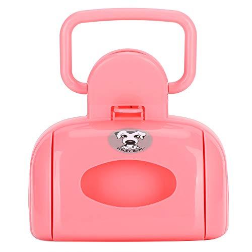 SALUTUYA Pooper Scooper für große Hunde, Dog Waste Pooper mit Müll, Dog Pooper Scooper für Gras, für Hunde und Katzen(Bag Type Toilet Picker【Pink】)