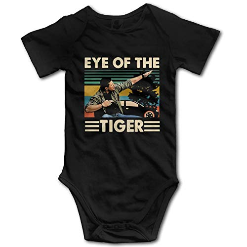 Dean Winchester Supernatural Eye of The Tiger Bodysuit Baby Jersey Black
