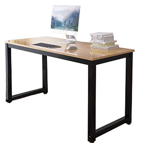 LQ Habitación Sencilla Oficina en casa Escritorio del Ordenador portátil de Doble Escritorio de Trabajo fácil de Instalar pequeña Mesa (Color : Beige, Size : 100 * 50 * 74cm)