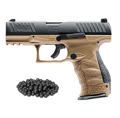 T4E Walther PPQ M2 (GEN2) .43cal CO2 Semi Auto Blow Back Paintball Pistol - FDE w/Free 50 Rubber...
