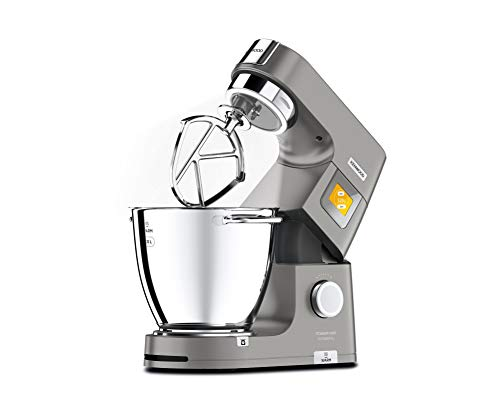 Kenwood Titanium Chef Patissier XL KWL90.034SI – Küchenmaschine mit integrierter Waage & 7 L Rührschüssel mit Wärmefunktion, 1400 Watt, inkl. 4-teiligem Patisserie-Set, silber - 5
