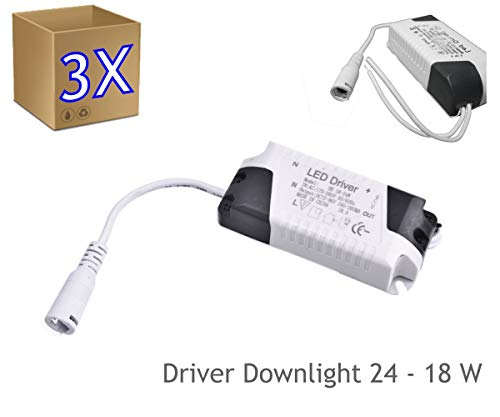 3x Driver Downlight LED 18W 24W DC