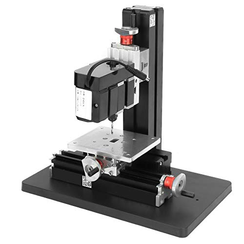 Mini Drill Lathe,Mini Drilling Machine with Index Plate,DIY Power Tool 20000rpm 2A 24W Z10002 100-240V,Used for Wood Soft Metals Engineering Plastics