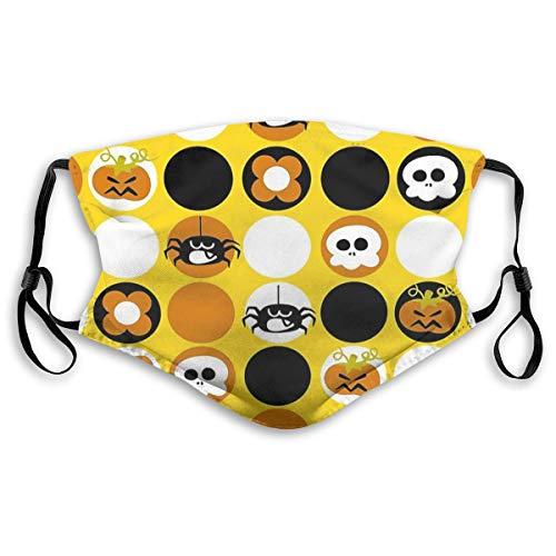 Wuyouhua Yiayatee Halloween Pattern Waschbare Mode Staubdicht Reitgesichtstuch, Verstellbare Hängeohren S