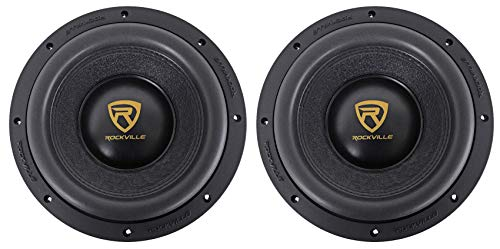 (2) Rockville W10K9D4 10' 6400 Watt Car Audio Subwoofers Dual 4-Ohm Subs