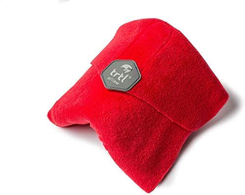 Trtl Pillow – Wissenschaftlich belegt super weiches Nacken unterstützendes Reisekissen - Waschmaschinenfest (Rot, Erwachsener)