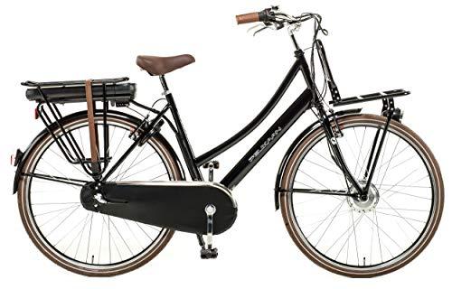 E-Bike Pelikaan Hollandrad Damen 28 Zoll 53 cm Schwarz 3-Gang Modell 2020 | Elektrofahrrad Ebike E Fahrrad | Hollandfahrrad Holland Fahrrad | Damenrad Komplett Modern Neu