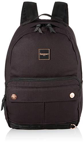 Superdry Damen Elsworth Backpack Rucksack, Schwarz (Black), 35x20x45 cm