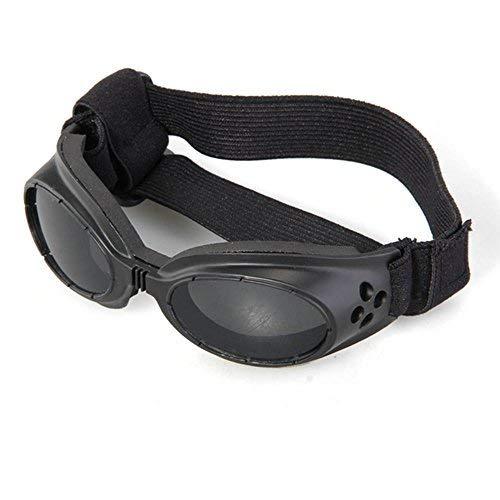fitTek Facilla Cucciolo Cane Nero, Protezione UV Doggles Occhiali da Sole Eyewear