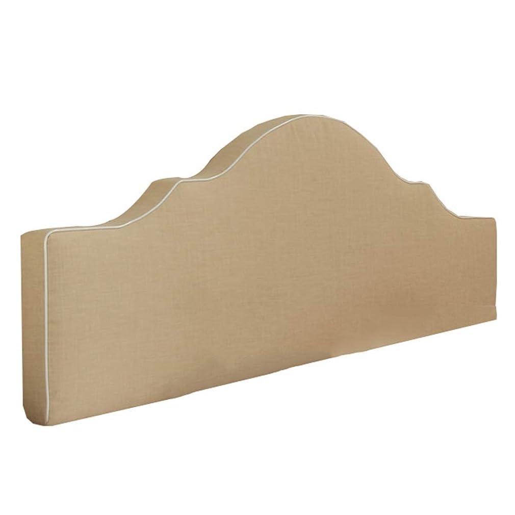 朝の体操をする遊びます愛されし者WZBヘッドボードクッションシンプルで快適な亜麻の金属製ジッパー掃除が簡単ウエスト、5色、5サイズを保護(色:Bベージュ、サイズ:120X50X8cm)