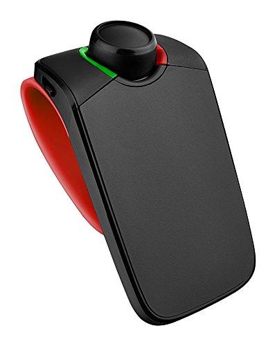Parrot Minikit Neo 2 HD - Kit vivavoce Bluetooth portatile con controllo vocale HD, Nero/Rosso [Francia]