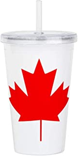 Acrylic Insulated Water Bottle Cup Canadian Canada Flag HD