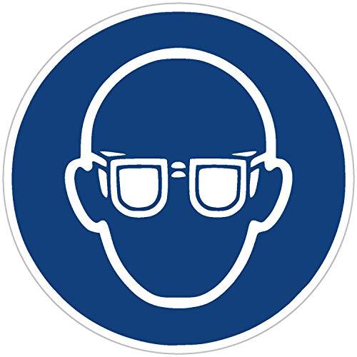 Aufkleber Augenschutz benutzen 9 Stück Gebotszeichen M004