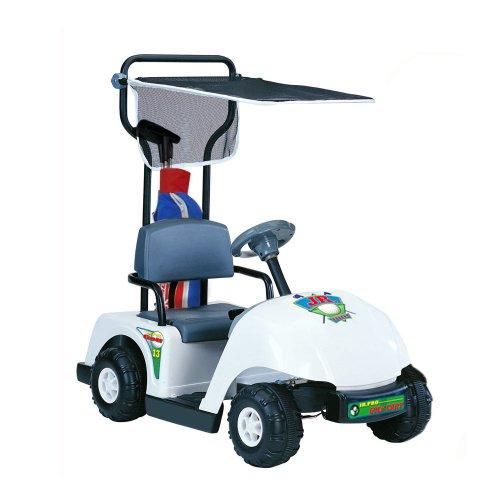 Kid Motorz Junior 6V Pro Golf Cart Ride-On, White