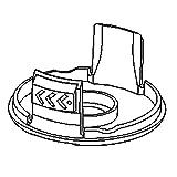 Craftsman 221007115 Line Trimmer Spool Cap Genuine Original Equipment Manufacturer (OEM) Part