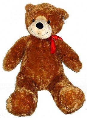 Aliki Bär Goliath, mit Schleife -halbsitzend- ca. 100 cm, Kuschelplüsch, Plüsch, Teddy, Teddybär
