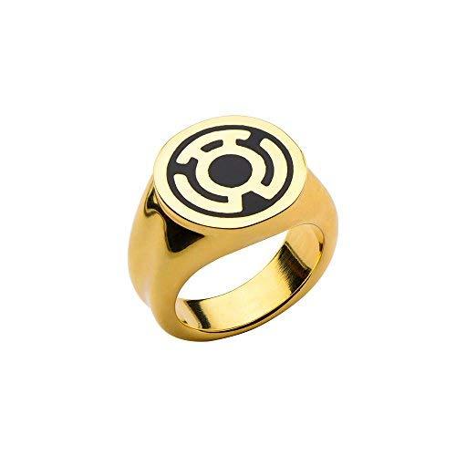 DC Comics The Green Lantern Sinestro oro anillo de acero inoxidable