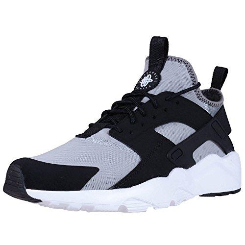Nike, Air Huarache Run Ultra, Scarpe Running, Uomo, Grigio (Wolf Grey/White-Black-Cool Grey), 41 EU