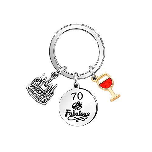 Porte-clés cadeau d'anniversaire, porte-clés « Happy Birthday » pour 16, 18, 21, 30, 40, 50, 60, 70 ans