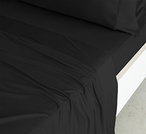 SHEEX Luxury Copper Sheet Set with 2 Pillowcases, PRO+Ionic Copper Fabric, Black, Queen