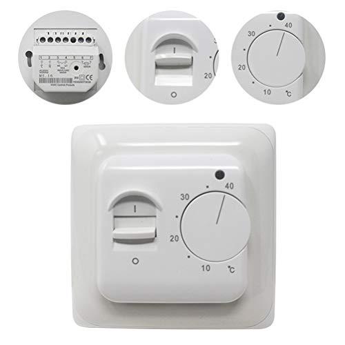 KETOTEK Mechanisch Thermostat Fußbodenheizung Elektrisch Regler mit Fühler 230V 16A Manuell Thermostate Fusbodenheizungsregler 220V Sensor